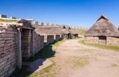 Eketorp castle Iron Age houses — Foto de Stock