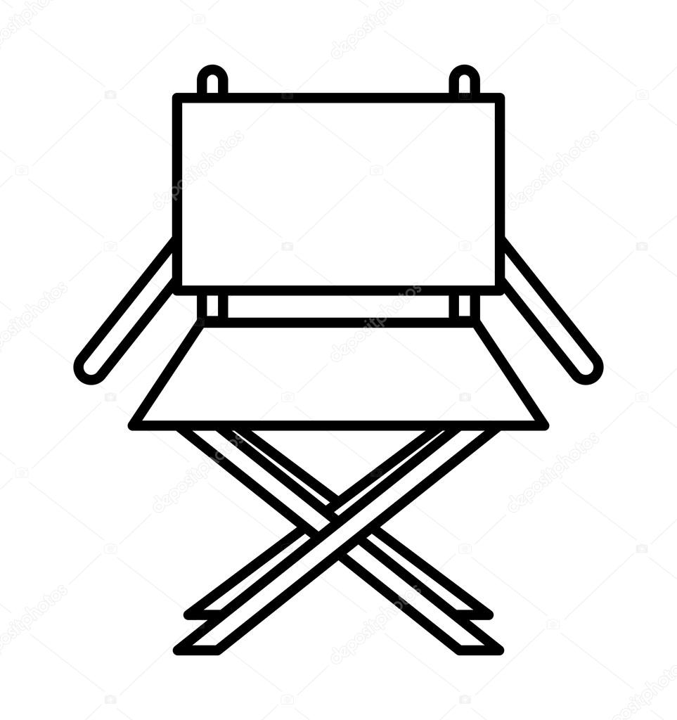 Chaise r alisateur isol dessin ic ne image vectorielle for Chaise de realisateur