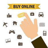 Buy on line  — Stock Vector