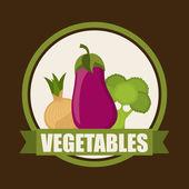 Vegetables design — Stock Vector