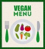 Vegan food — Stock Vector