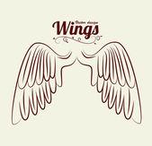 Wings design — Stock Vector