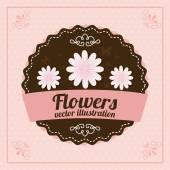 Flowers desing — Stock Vector