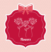 Blumen design — Stockvektor