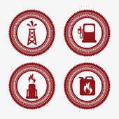 Gasoline design  — Stock Vector