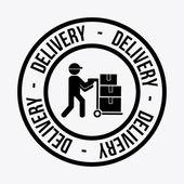 Progettazione di consegna — Vettoriale Stock