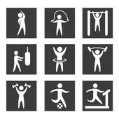 Gym design — Stock Vector