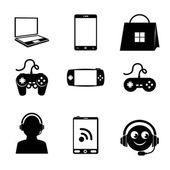 Videogame design — Stock Vector