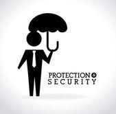 Güvenlik tasarım — Stok Vektör