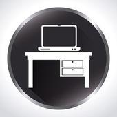 Design ufficio — Vettoriale Stock