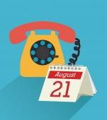 Design telefono — Vettoriale Stock