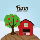 Farm design — Stock Vector