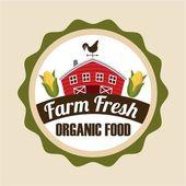 Farm fresh design — Stock Vector