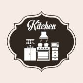 Kitchen design — Stock Vector