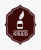 Graduation design  — Vettoriale Stock