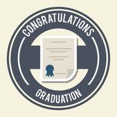 Graduation design  — Stock Vector