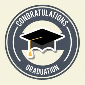 Graduation design  — Vector de stock
