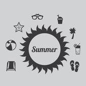 летние каникулы — Cтоковый вектор