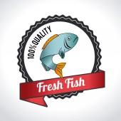 Diseño de pescado — Vector de stock