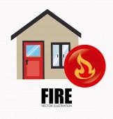 Fire design — Stock Vector