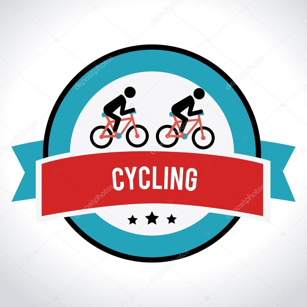 自行车在白色的背景,矢量图的设计