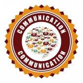 Communication design — Stock Vector
