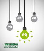 Energy graphic — Stock Vector