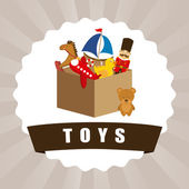 Toys graphic — Stock Vector