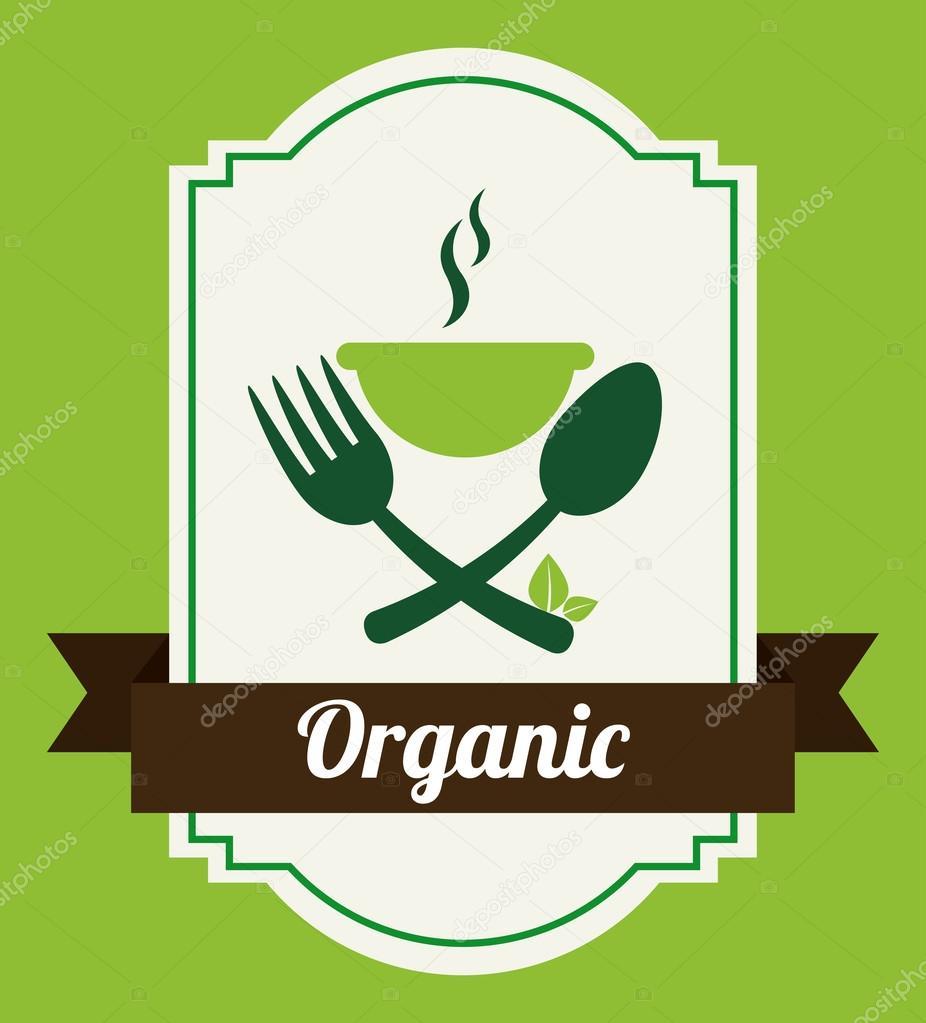有机食品的标签,矢量图– 图库插图