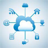Cloud computing — Stock Vector