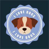 Dog design — Stock Vector