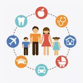 家族のグラフィック デザイン — ストックベクタ
