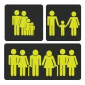 Familjen design — Stockvektor