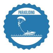 Paragliding — ストックベクタ