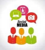 ソーシャル メディア デザイン — ストックベクタ
