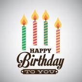 Birthday design  — Cтоковый вектор