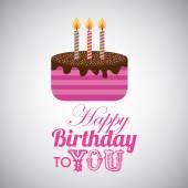 Birthday design  — Stock Vector