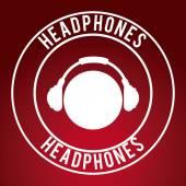 Design de fones de ouvido — Vetor de Stock