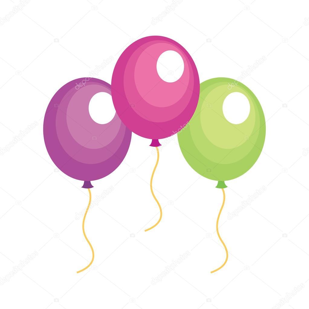 气球平面设计, 矢量图– 图库插图