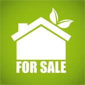 Eco house  design  — Stock Vector
