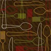 Cutlery design  — Stock Vector
