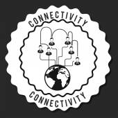Connectivity design  — Stock Vector