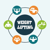 Weight lifting design  — Stok Vektör