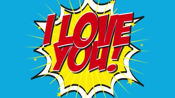 Te amo — Vídeo de stock