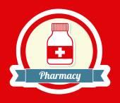 Pharmacy design  — Stock Vector