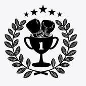Diseño de boxeo — Vector de stock