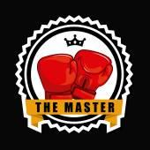 ボクシングのデザイン — ストックベクタ