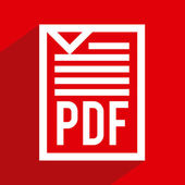 Pdf file design  — Stockvektor