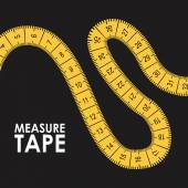 Measure tape design — Stock Vector