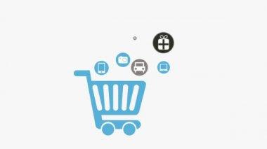 Shopping Cart — Stock Video